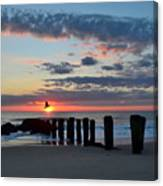 Sunrise At The Jersey Shore Canvas Print