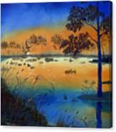 Sunrise At The Lake Canvas Print