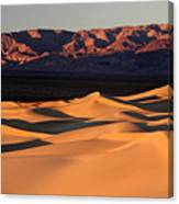 Sunrise At The Mesquite Sand Dunes Canvas Print