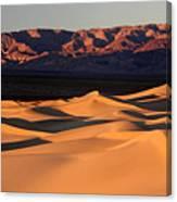 Sunrise At The Mesquite Sand Dunes Canvas Print