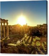 Sunrise At The Ruins Canvas Print