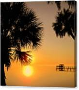 Sunrise At The Space Coast Fl Canvas Print