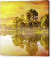 Sunrise At Trojan Park In Rainier Oregon Canvas Print