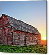 Sunrise Barn Canvas Print