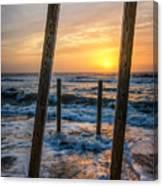 Sunrise Between The Pillars Landscape Photograph Canvas Print