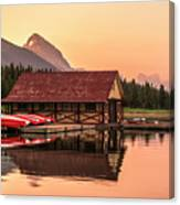 Sunrise Boat House Canvas Print