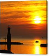 Sunrise Brushstrokes Canvas Print