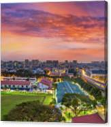 Sunrise By Mrt Station In Eunos Singapore Canvas Print