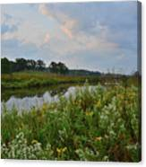Sunrise Clouds Above Glacial Park's Nippersink Creek Canvas Print