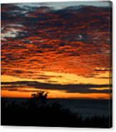 Sunrise Drama By The Sea Canvas Print