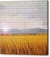 Sunrise Field 1 - Mosaic Tile Effect Canvas Print