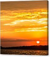 Sunrise Field Goal Canvas Print