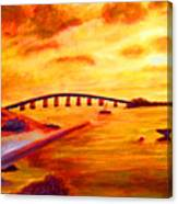 Sunrise Fiesta Key Canvas Print