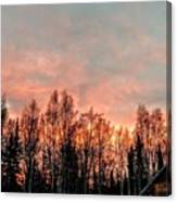 Sunrise Fire  Canvas Print