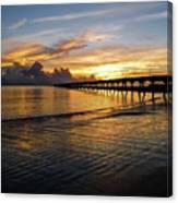 Sunrise Fort Clinch Pier Canvas Print