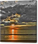 Sunrise-hdr-bw With A Touch Of Color Canvas Print