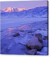Sunrise Ice Reflection Canvas Print