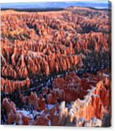 Sunrise In Bryce Canyon Amphitheater Canvas Print
