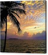 Sunrise In Fajardo, Puerto Rico Canvas Print