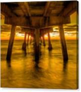 Sunrise In Ft Lauderdale Pier Canvas Print