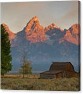 Sunrise In Jackson Hole Canvas Print