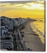 Sunrise In Rio De Janeiro Canvas Print