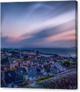 Sunrise In St Ives In Cornwall Canvas Print