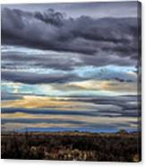 Sunrise In The Western Sky  Canvas Print