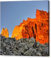 Sunrise In Torres Del Paine Canvas Print