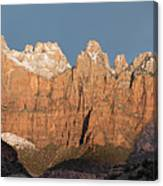 Sunrise In Zion National Park  Canvas Print
