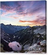 Sunrise Into The Lake Canvas Print