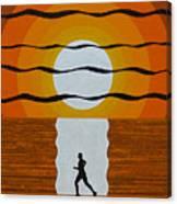 Sunrise Jogger Canvas Print