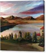 Sunrise Lake Canvas Print