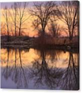 Sunrise Lake Reflections Canvas Print