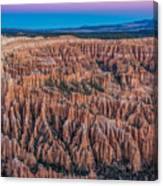 Sunrise Light On Bryce Canyon Canvas Print