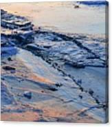 Sunrise Light On The Ice  Canvas Print