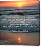 Sunrise Love Scripture Canvas Print