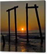 Sunrise At Ocean City Canvas Print