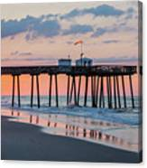 Sunrise Ocean City Fishing Pier Canvas Print