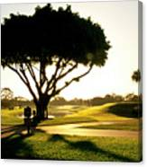 Sunrise On A Golf Course Canvas Print