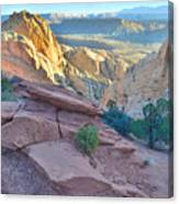 Sunrise On Burr Trail Switchbacks Canvas Print