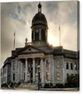 Sunrise On Cherokee County Courthouse Canvas Print
