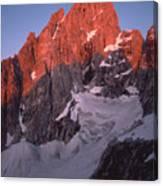 1m9380-sunrise On Grand Teton  Canvas Print