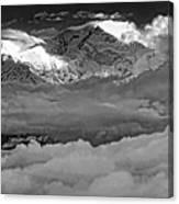 Sunrise On Kanchenjunga Bw Canvas Print