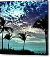 Sunrise On Miami Beach Canvas Print