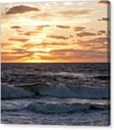 Sunrise On Pompano Beach Pompano Florida Canvas Print