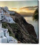 Sunrise On Santorini Canvas Print