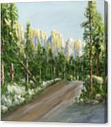 Sunrise On Spruce Mesa Canvas Print