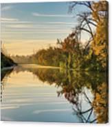 Sunrise On The Canal Canvas Print
