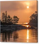 Sunrise On The Coast Canvas Print